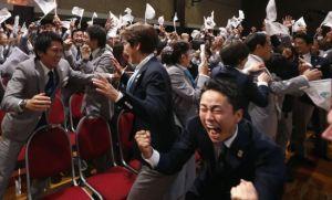 東京申奧成功,國民興奮